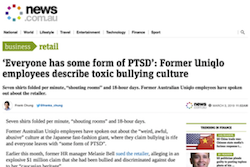 Everyone has some form of PTSD': Former Uniqlo employees describe toxic bullying culture